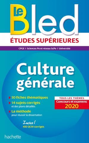 Bled Culture générale, examens et concours 2020