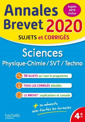 Annales Brevet 2020 Sciences