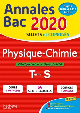 Annales Bac 2020 Physique Chimie Term S