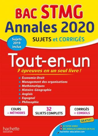 Annales Bac 2020 Tout-En-Un Bac STMG