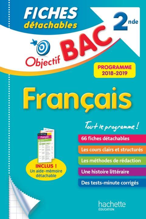 Objectif Bac Fiches détachables Français 2nde