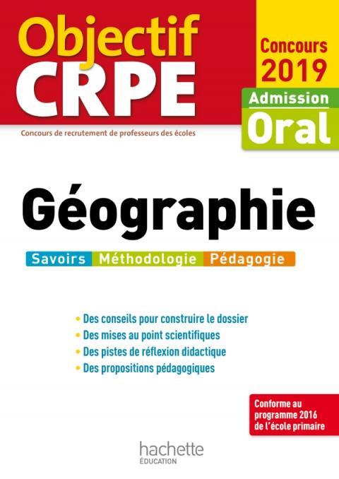 Objectif CRPE Géographie 2019