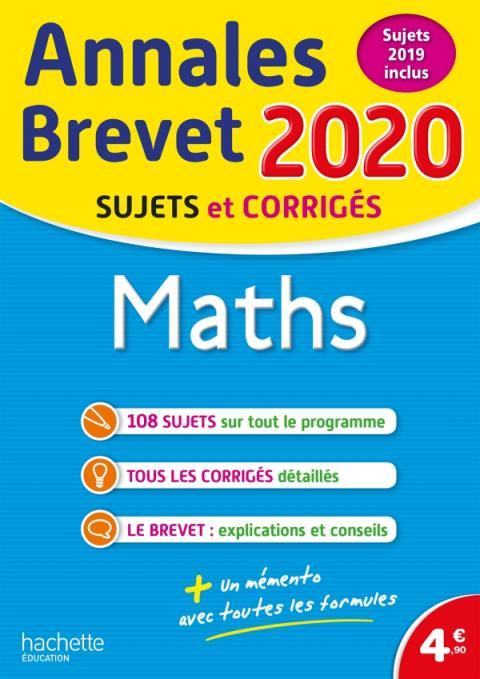 Annales Brevet 2020 Maths