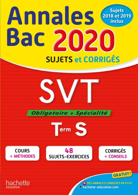 Annales Bac 2020 SVT Term S