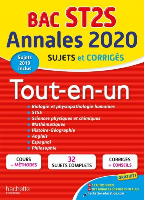Annales Bac 2020 Tout-En-Un Bac ST2S