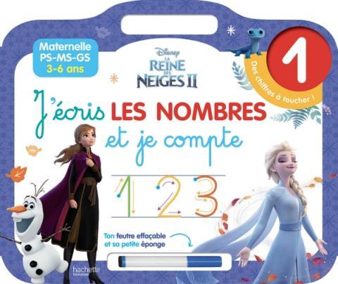 DISNEY REINE DES NEIGES 2 - J'écris les lettres nombres et je compte (3-6 ans)